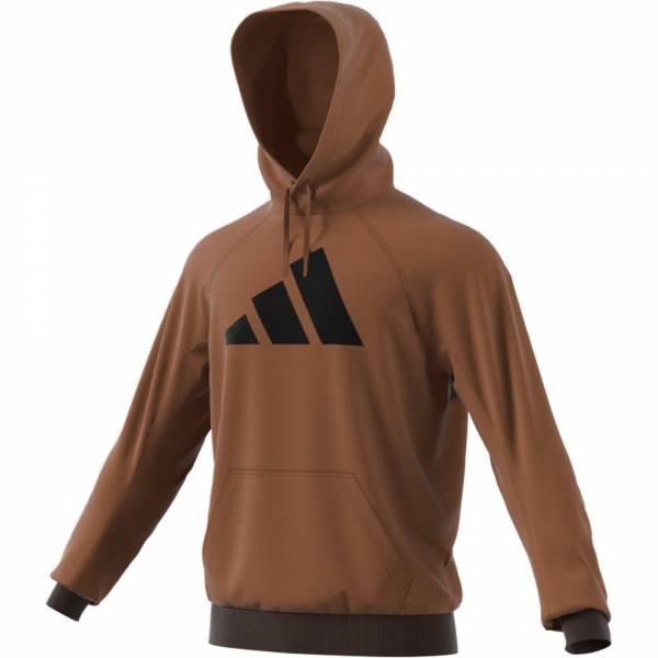 Adidas Fl Hood Kapuzenpullover sportlich Outdoor Herren braun NEU - Bild 1