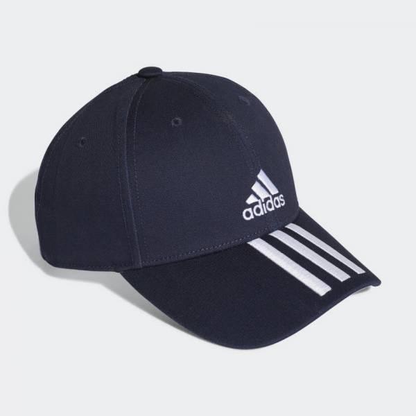adidas Baseball 3-Streifen Twill Kappe Freizeit Sport Unisex blau NEU - Bild 1