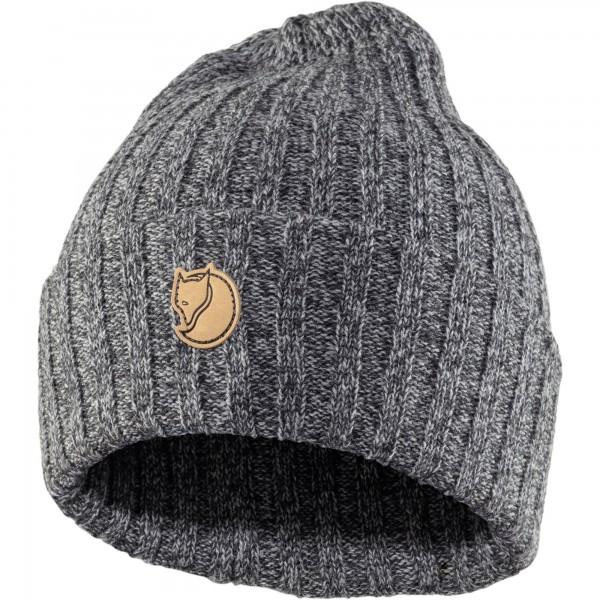 Fjällräven Byron Hat Unisex Mütze Strickmütze Wintersport Outdoor dark grey NEU