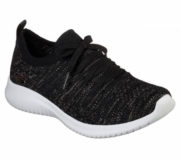 Skechers Ultra Flex Salutations Damen Freizeitschuhe Sneaker Outdoor schwarz NEU