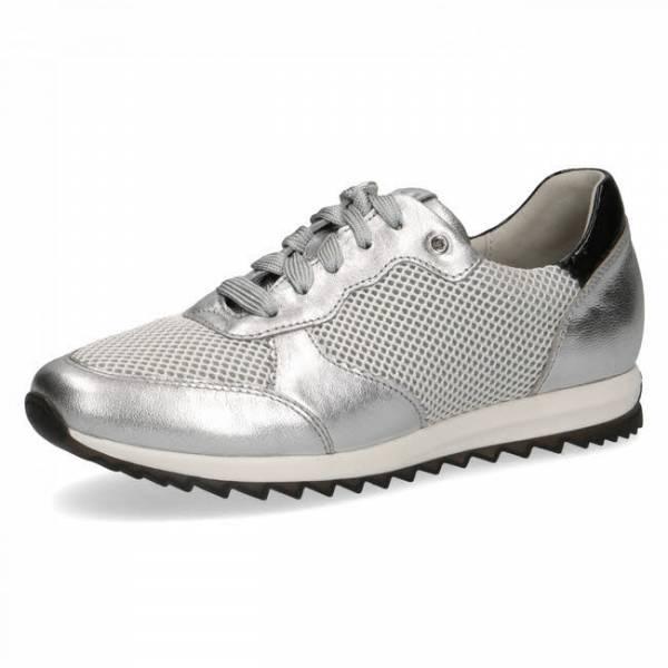 Caprice Sneaker Schürschuh Halbschuh silber Damen NEU