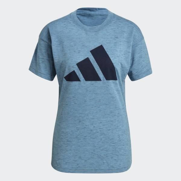 adidas Sportswear Winners T-Shirt Sport Fitness Sport Freizeit Damen blau NEU - Bild 1