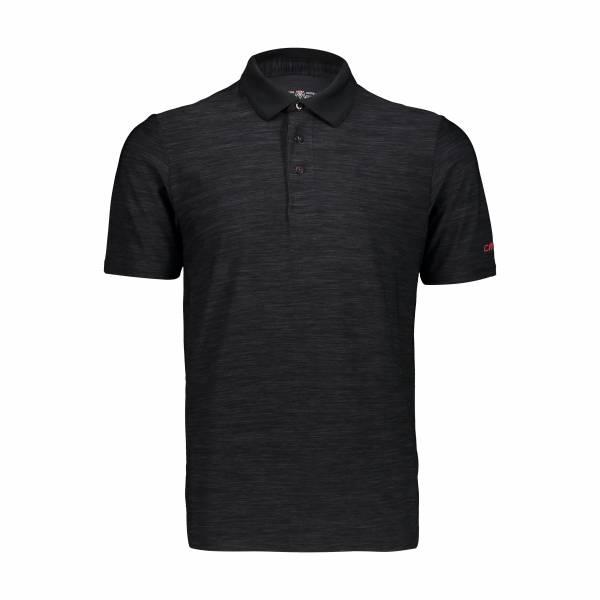CMP Polo-Shirt Funktionsshirt Outdoor Freizeit sportlich Herren schwarz NEU