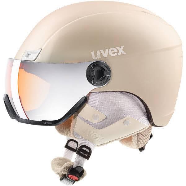 Uvex hlmt 400 visor style Skihelm Snowboardhelm mit Visier prosecco met mat NEU - Bild 1