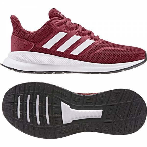 adidas Runfalcon Junior Jungen Sportschuh Laufschuh Freizeit dunkelrot NEU - Bild 1