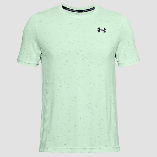 Under Armour UA Seamless Kurzarm-Oberteil Shirt Herren Trainig Freizeit blue NEU - Bild 1