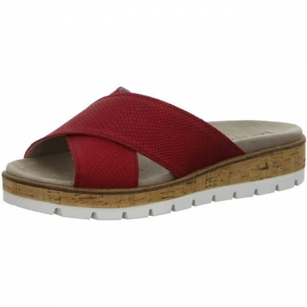 Longo Komfort Pantolette Wechselfußbette rot Damen NEU - Bild 1