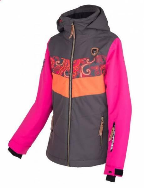 Rehall Hester-R Mädchen Skijacke Snowboardjacke Winterjacke flowers orange NEU