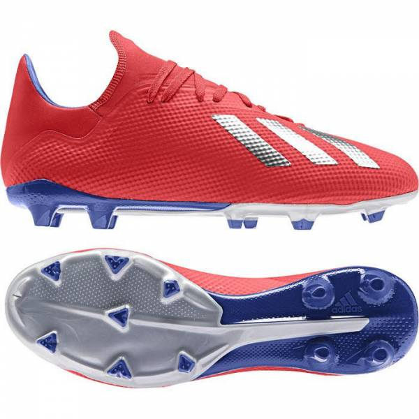 adidas X 18.3 FG Herren Fußballschuh Stollenschuhe Fussball rot/blau NEU - Bild 1
