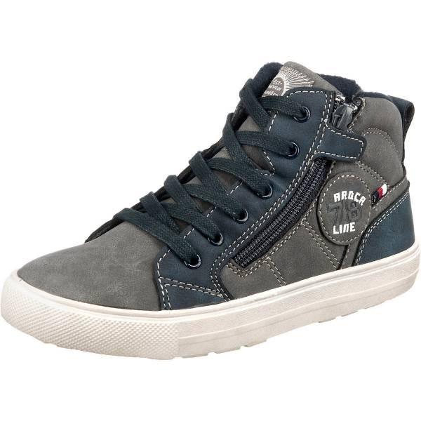 Indigo Sneaker High Kinder Freizeitschuhe Schnürschuhe Outdoor anthrazit NEU