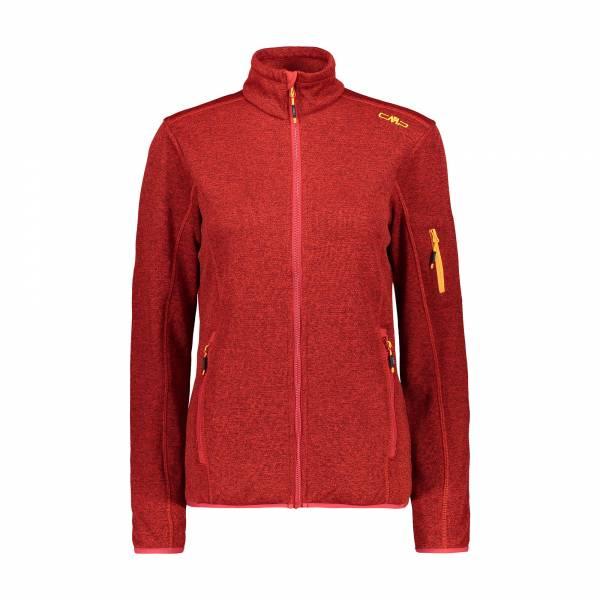 Campagnolo Jacket Damen CMP Fleecejacke Midlayer Outdoor Freizeit rot NEU