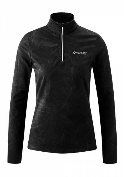 Maier Sports Damen Midlayer Funktionsrolli black print NEU - Bild 1