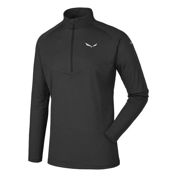 Salewa Sennes Dry Herren Zip-Shirt Langarmshirt Wintersport Skiroll Freizeit black NEU