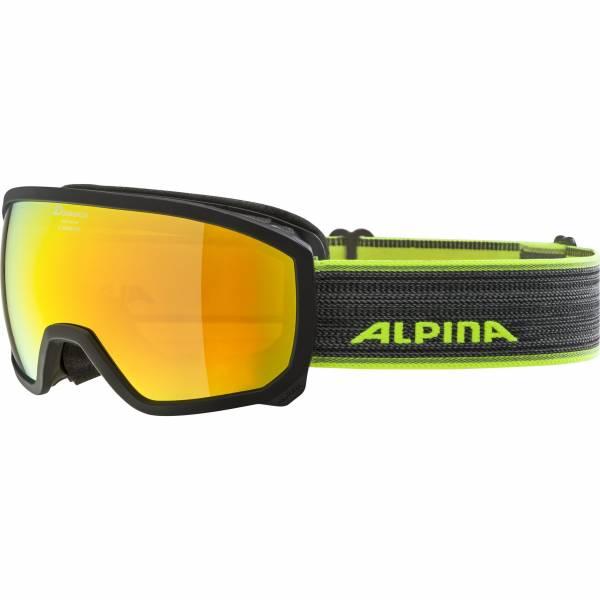 Alpina Scarabeo Jungen Skibrille Snowboardbrille Wintersport schwarz NEU - Bild 1