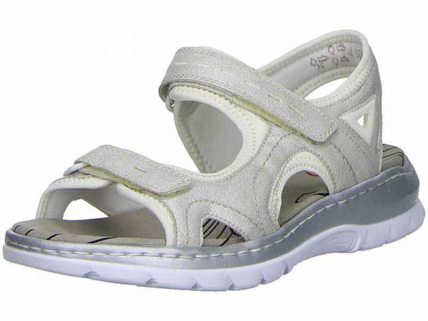 Rieker Sandaletten Damen Sandale Sommerschuhe modisch Freizeit weiß NEU - Bild 1