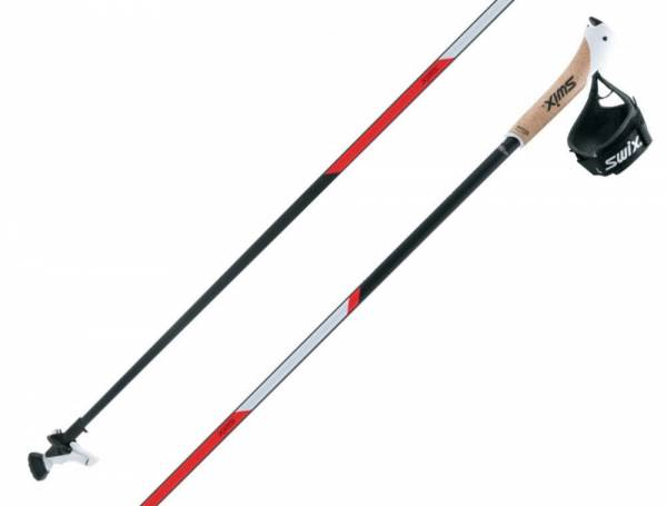 Swix CT2 Red Professional Carbon Nordic Walking Stöcke Just Click-Schlaufe 1Paar