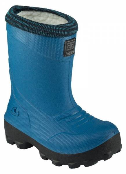 Viking FROST FIGHTER Blue/Black Kinder Winterstiefel Gummistiefel Thermo Wolle