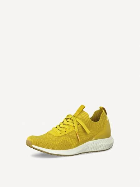 Tamaris Sneaker Damen Turnschuhe modisch elegant Freizeit gelb NEU - Bild 1