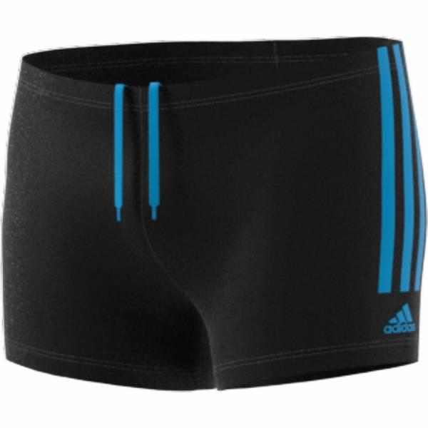 adidas Fit Semi 3 Streifen Boxer Badehose Herren Schwimmen Freizeit schwarz NEU - Bild 1