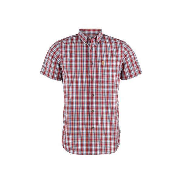 Fjällräven Övik Shirt SS M Herren Trekkingshirt Outdoor Kurzarm Shirt red NEU