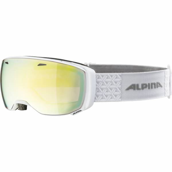 Alpina Estetica QVM gold sph. Damen Skibrille Wintersportbrille Brille white NEU - Bild 1