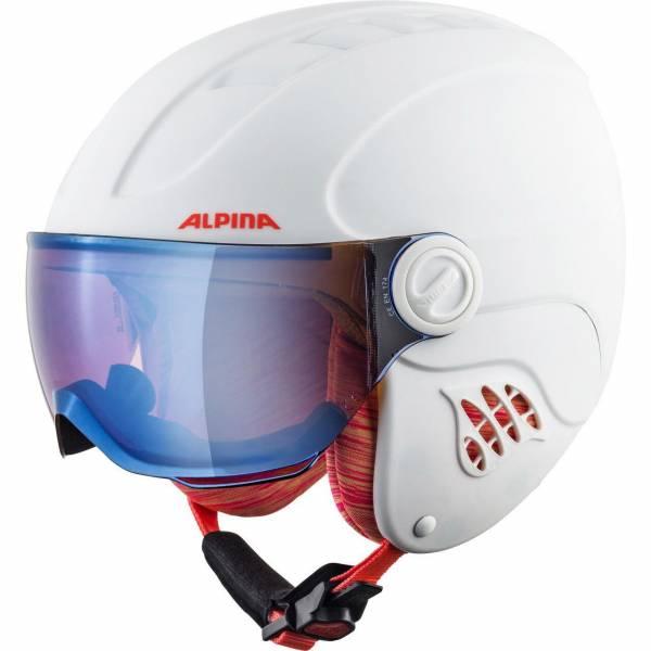 Alpina Carat LE Visor HM Mädchen Skihelm Snowboardhelm mit Visier white-flamingo-matt NEU - Bild 1