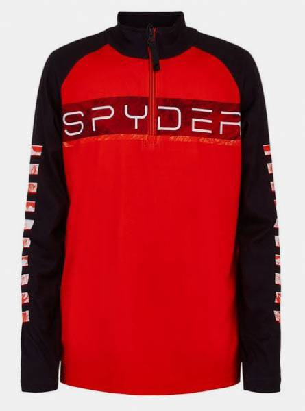 Spyder Boys Peak T-Neck Funktionsrolli Skirolli Zip Rolli red NEU
