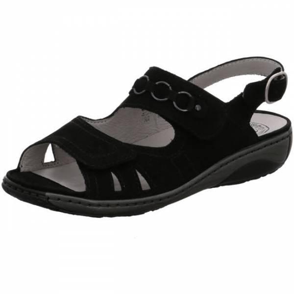 Waldläufer Garda Damen bequeme Sandale elegant modisch Freizeit schwarz NEU - Bild 1