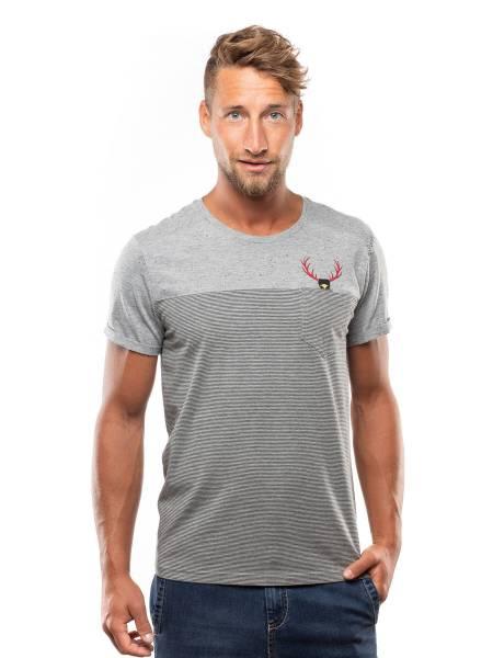 Chillaz Street Hirschkrah T-Shirt Outdoor sportlich modisch Herren grau NEU - Bild 1