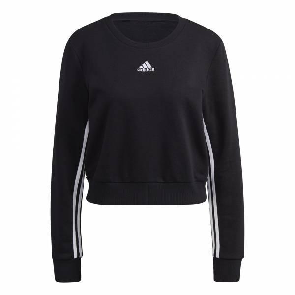 adidas Essentials Crop Sweatshirt Freizeit sportlich modisch Damen schwarz NEU - Bild 1