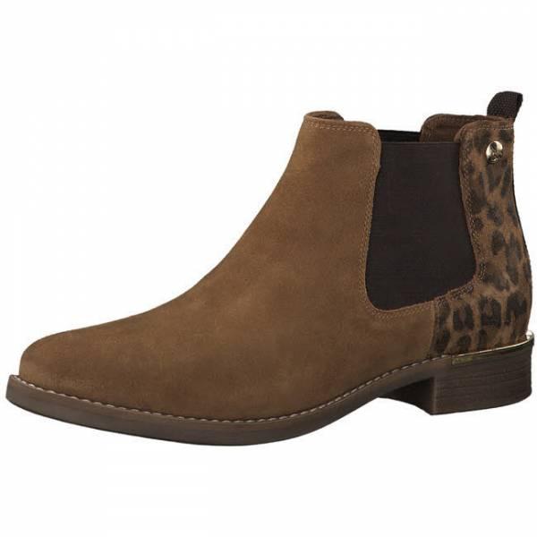 s.Oliver Stiefelette Damen Chelsea Boots Winterstieflette Stiefel modisch braun NEU