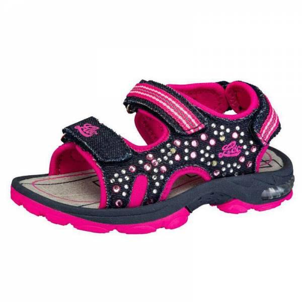 Lico Sandale Spotlight V Kinder Flip Flop Schlupfschuh Freizeit marine/pink NEU