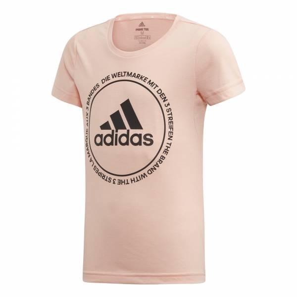 adidas TR Prime Tee Mädchen Sportshirt T-Shirt Fitness Freizeit rosa NEU - Bild 1