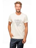 Chillaz Retro Rock Hero T-Shirt Outdoor Freizeit sportlich modisch Herren weiß NEU