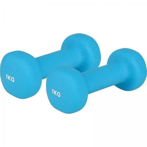 V3 Tec Neoprenhantel blau 1,0 kg Kurzhantel Fitness Training Aerobic Gymnastik NEU