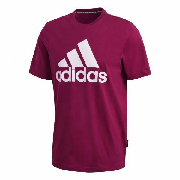 adidas Must Haves Badge of Sport T-Shirt Herren Freizeit rot NEU - Bild 1