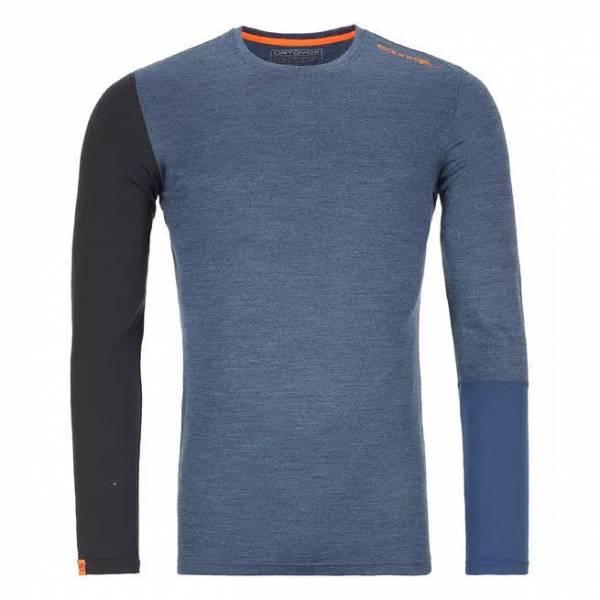 Ortovox 185 Rock'n'Wool Long Sleeve Herren Funktionsshirt Outdoor Freizeit blau NEU
