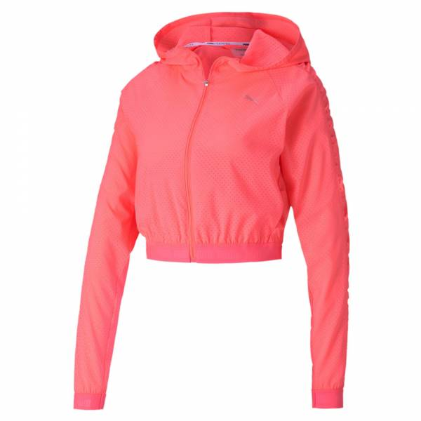 PUMA Be Bold Woven Jacket Damen Funktionsjacke Fitness Gym Freizeit pink NEU - Bild 1