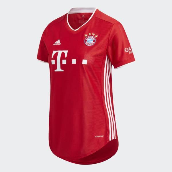 adidas FCB Home Trikot Damen 20/21 FC Bayern Trikot rot NEU - Bild 1