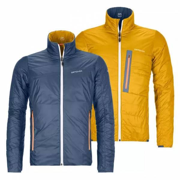 ORTOVOX Swisswool Piz Boval Jacket Herren Wendejacke Loftjacke blau gelb NEU