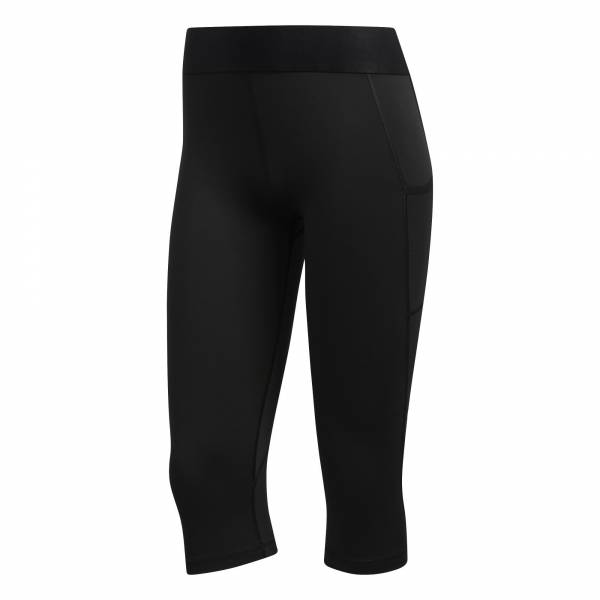 adidas Alphaskin Capri Tight Damen Trainingshose Freizeit black/white NEU - Bild 1