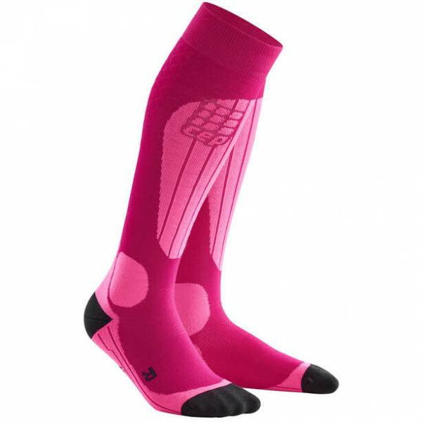 cep Ski Thermo Socks Damen Funktionssocken Skisocken Kompression pink NEU