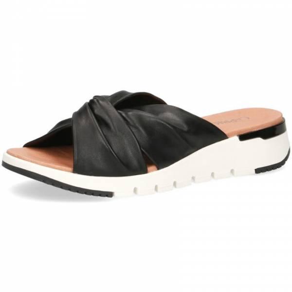 Caprice Pantoletten Damen Sandalette Sandale Sommerschuhe modisch schwarz NEU