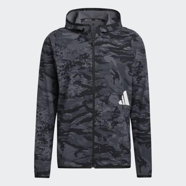Adidas Fl Camouflage Kapuzenjacke sportlich Training Outdoor Herren NEU - Bild 1