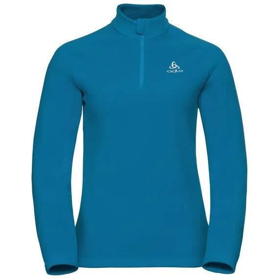 Odlo Bernina Midlayer 1/2 Zip Damen Skirolli Wintersport Langarmshirt blue NEU - Bild 1