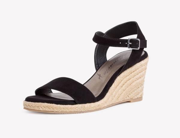 Tamaris Sandale Damen Business Lifestyle Sandalette modisch elegant black NEU