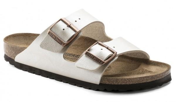 BIRKENSTOCK Arizona Birko-Flor Damen Graceful Pearl White Sandalen Schuhe NEU - Bild 1