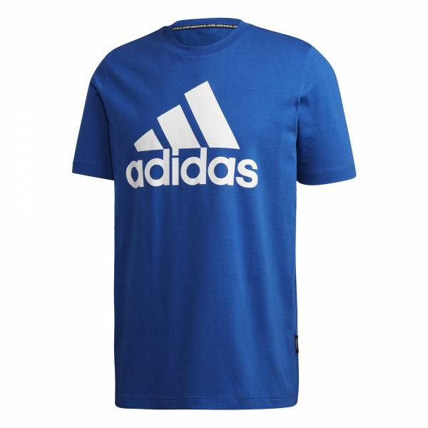 adidas Must Haves of Badge Sport Tee Herren Funktion T-Shirt Fitness blau NEU - Bild 1
