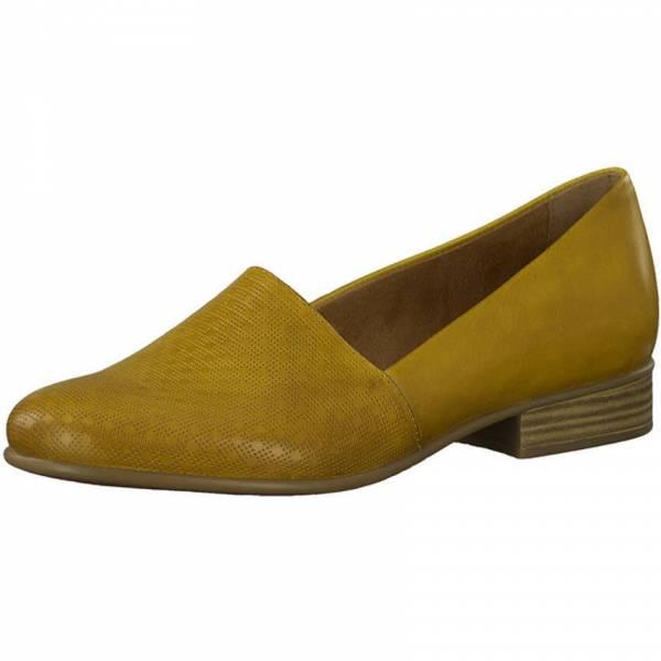Tamaris Slipper Damen Business Lifestyle Halbschuhe modisch Leder gelb NEU
