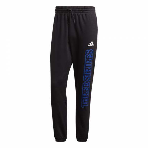 adidas 3-Streifen Graphic Jogginghose Herren Sweatpant Sporthose schwarz NEU - Bild 1